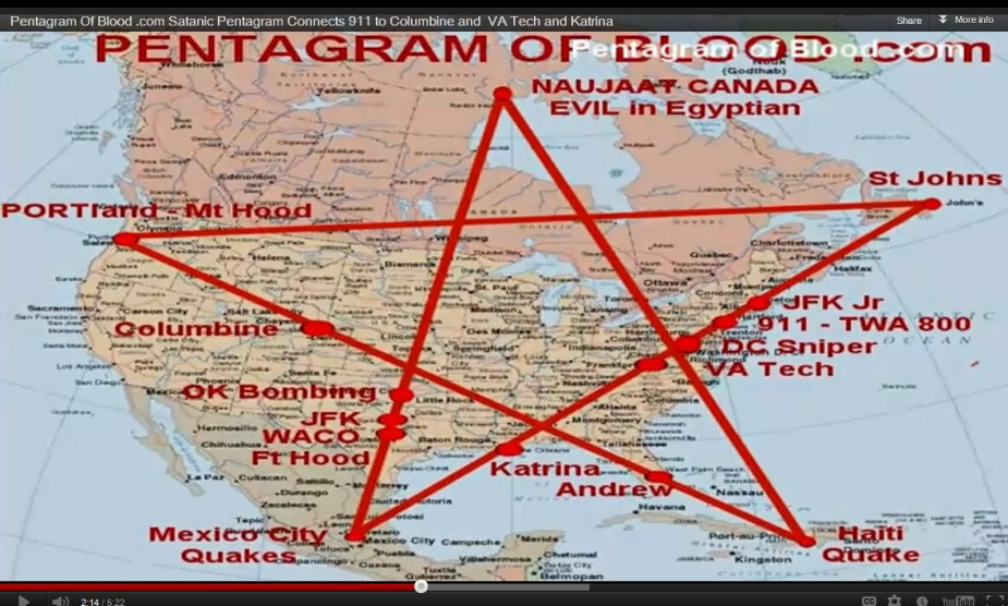 Hungry For Some Answers The Pentagram Of BLOOD The Numbers - Pentagram on us map