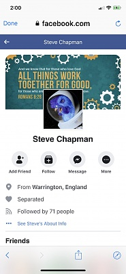 Click image for larger version  Name:Steve Chapman's Facebook profile.jpg Views:16 Size:152.7 KB ID:41709
