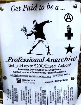Click image for larger version  Name:Open Society Foundation (Soros sponsored) Professional Anarchist flyer snapshot.jpg Views:56 Size:173.7 KB ID:43758