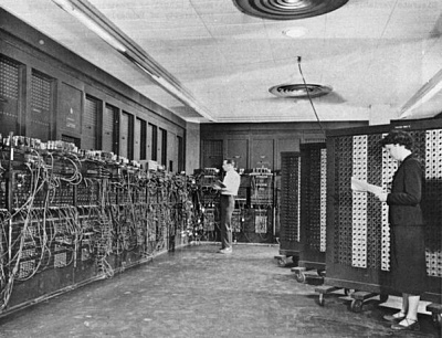 Click image for larger version  Name:ENIAC, the first functional computer system, which filled an entire room in the late 1940searly .jpg Views:11 Size:57.6 KB ID:45173
